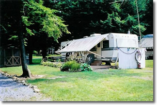 Camper at White's Haven Campground